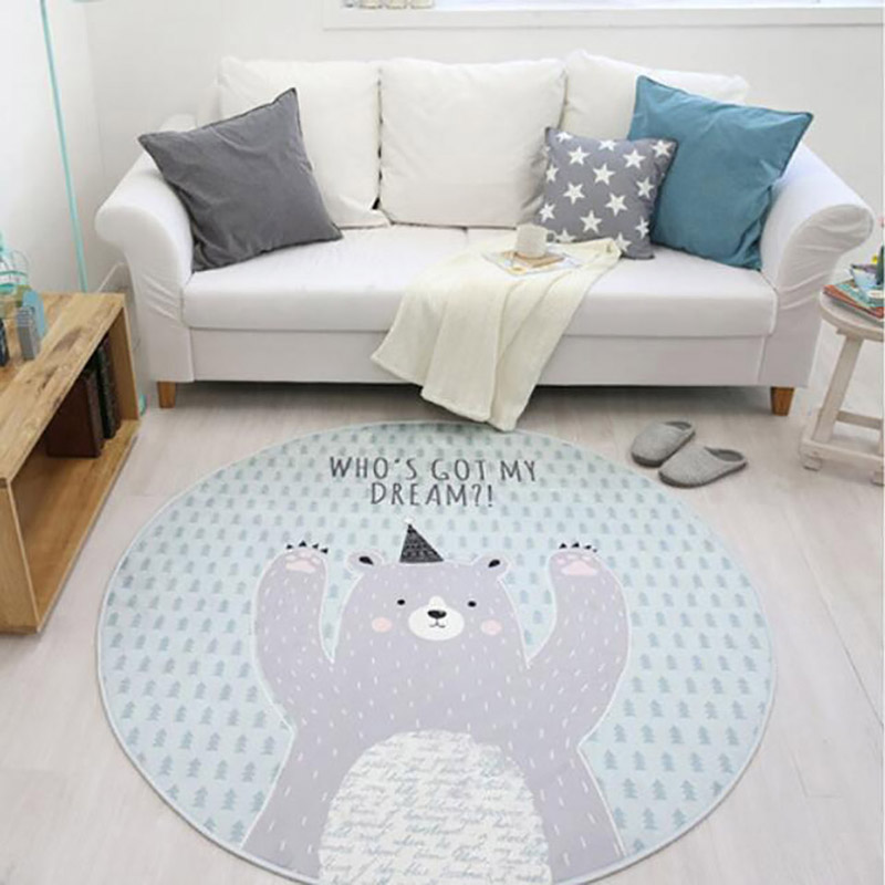 2019 Cotton Rug Play Mat Round Carpet With Balls Around Children Toys Baby Photography Props Nordic Style Rugs Carpets For Home