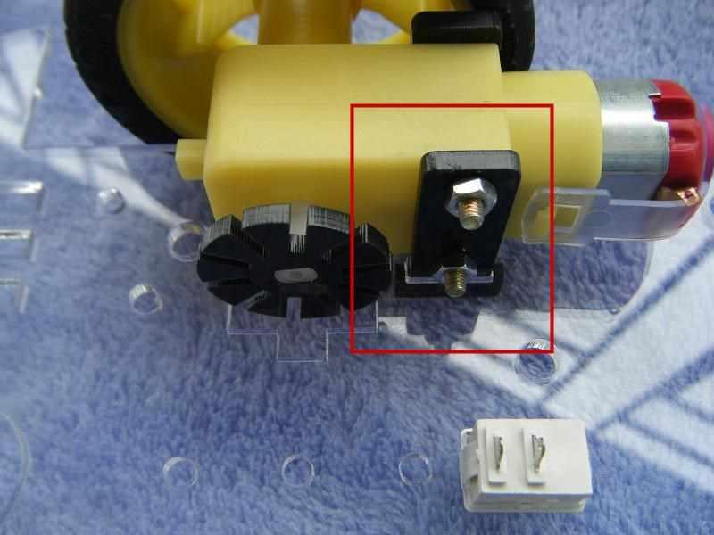 Marco fijo del Motor para Arduino Motor Robot inteligente chasis del coche Kit codificador de velocidad caja de batería 2WD 4WD