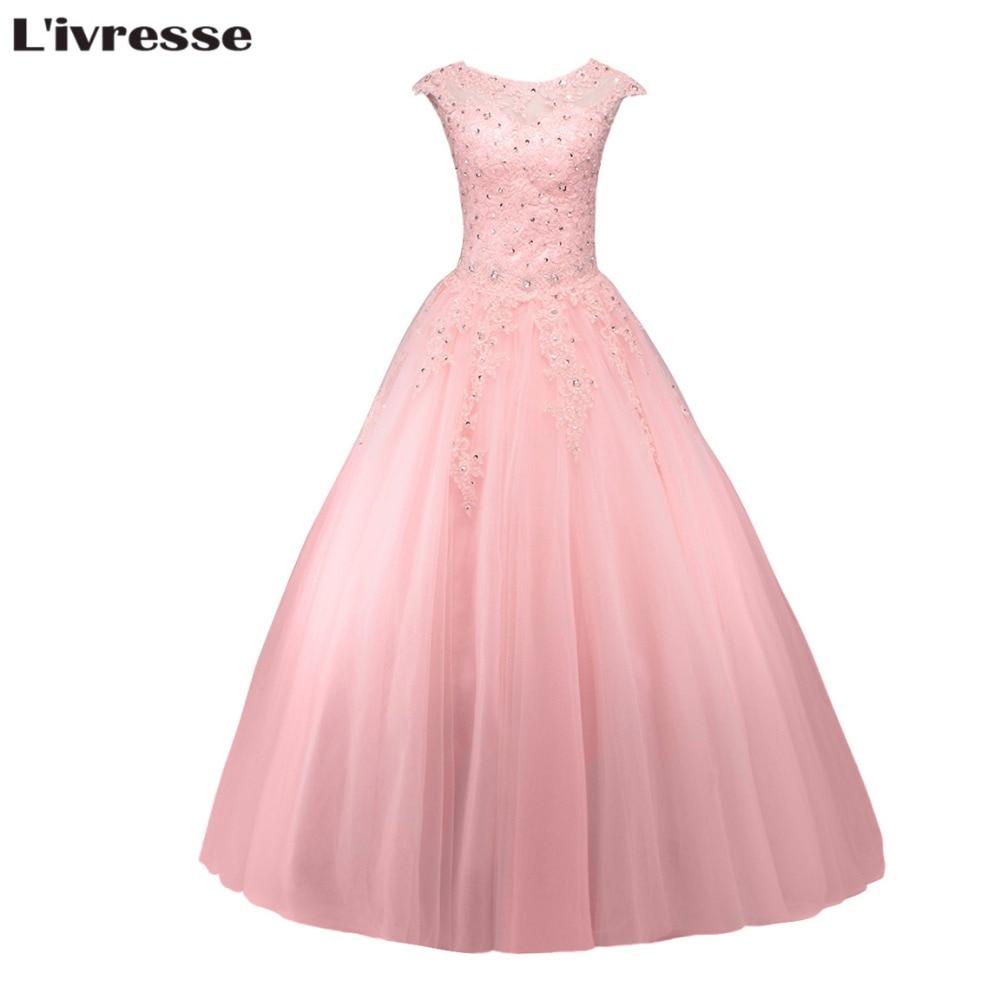 Atractivo Calientes Vestidos Rosados ??del Prom Del Tamaño Patrón ...