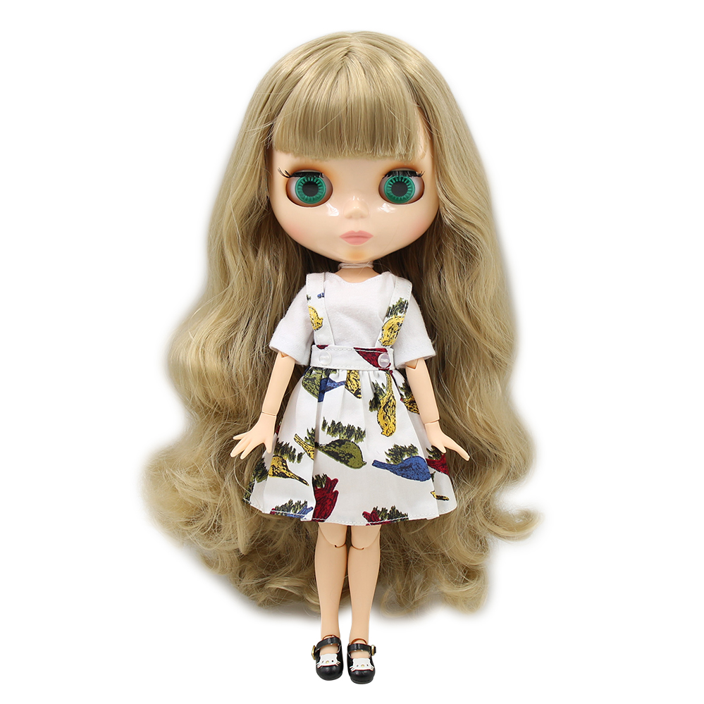 free shipping factory blyth Doll bjd neo 300BL3227 JOINT body brown hair With Bangs/fringes mix hair gift toy 1/6 free shipping factory blyth doll icy orange hair with bangs fringes joint body 230bl0145 bjd neo 1 6 30cm