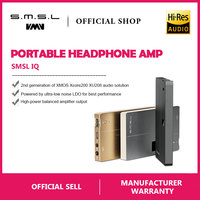 SMSL IQ USB HI RES Portable headphone Amplifier with DAC DSD512 PCM 768kHZ built in chargeable battery 2.5mm and 3.5mm output
