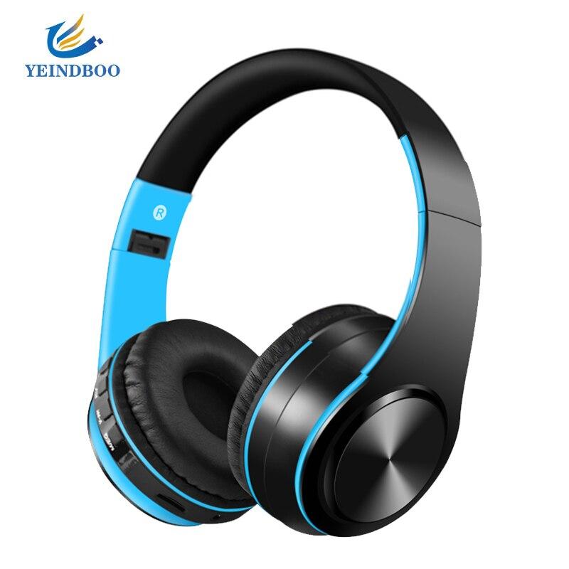 YEINDBOO אופנה אלחוטי אוזניות Bluetooth אוזניות אוזניות אוזניות אוזניות עם מיקרופון עבור מחשב נייד טלפון מוסיקה