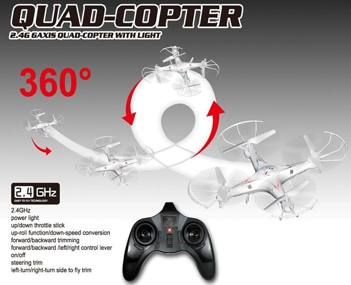D1 New Arrival Top Selling FY326 Q7 2.4G 6-Axis Gyro 4-CH UFO RC Quad-copter RC Quadcopter Helicopter with LED Colorful Lights