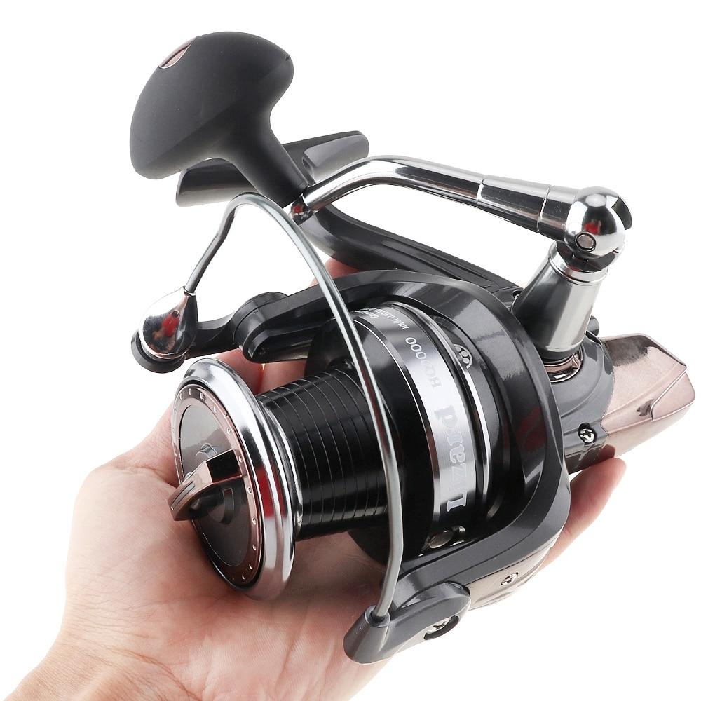 9000 série 13 + 1 roulements à billes 5.1: 1 moulinet de pêche filature 25KG traînée Max gabarits à la traîne longue tir droite/gauche Interchangeable