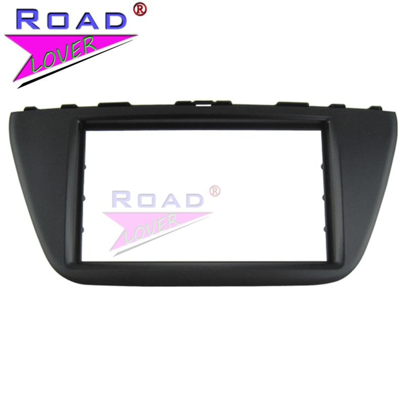 TOPNAVI 2 Din Car Audio frame Panel Car Radio fascia for SUZUKI SX4/ S CROSS 2014 Auto Air Condition Car Video Installation Kit