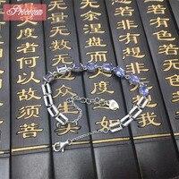 Natural Tanzanit Bracelets Elegant Genuine Gemstone Chain Bracelets Sterling silver female fine Jewelry Free shipping sale #94