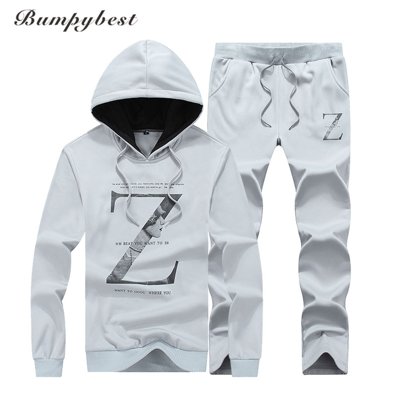 Bumpybeast 2017 Mens Set Sweatshirts Pants Fashion Jogger Tracksuits Men Casual Clothing Hoodies Masculino Sportswear size 4XL