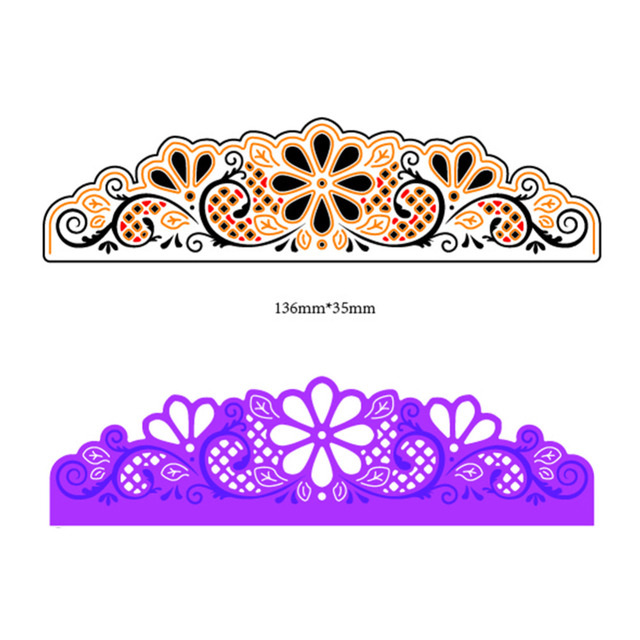 Lace flower border metal dies cutting decoration scrapbooking craft lace flower border metal dies cutting decoration scrapbooking craft dies cuts diy stamps embossing paper cards mightylinksfo