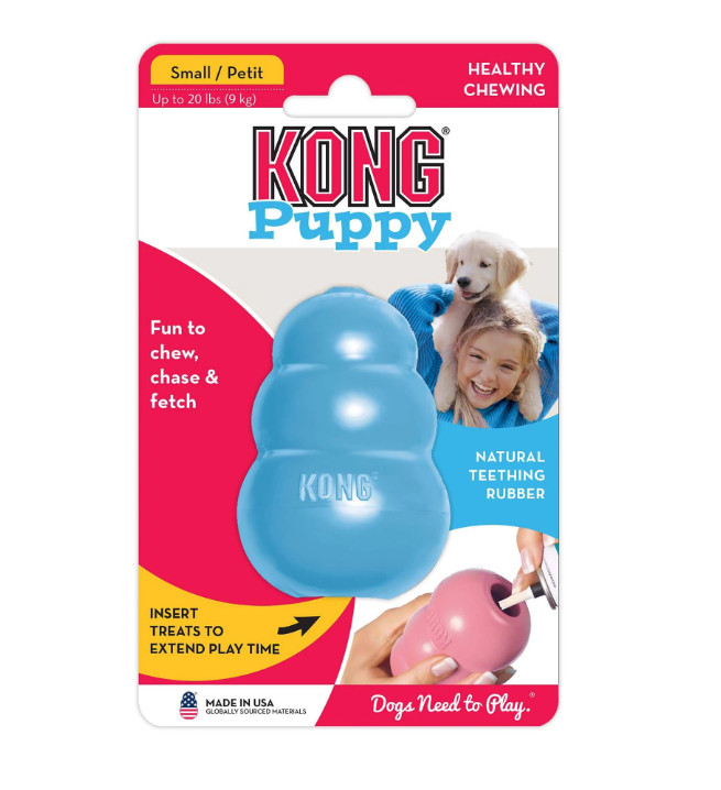 XS L KONG Puppy Dog Toy with Your Choice of Dog Treat