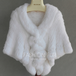 FXFURS 2019 Handmade Fur Cape Knitted Rabbit Fur Shawl Genuine Rabbit Fur Cloak Cape Bride Fur Cape Women