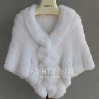 FXFURS 2020 Handmade Fur Cape Knitted Rabbit Fur Shawl Genuine Rabbit Fur Cloak Cape Bride Fur Cape Women - DISCOUNT ITEM  51 OFF Apparel Accessories