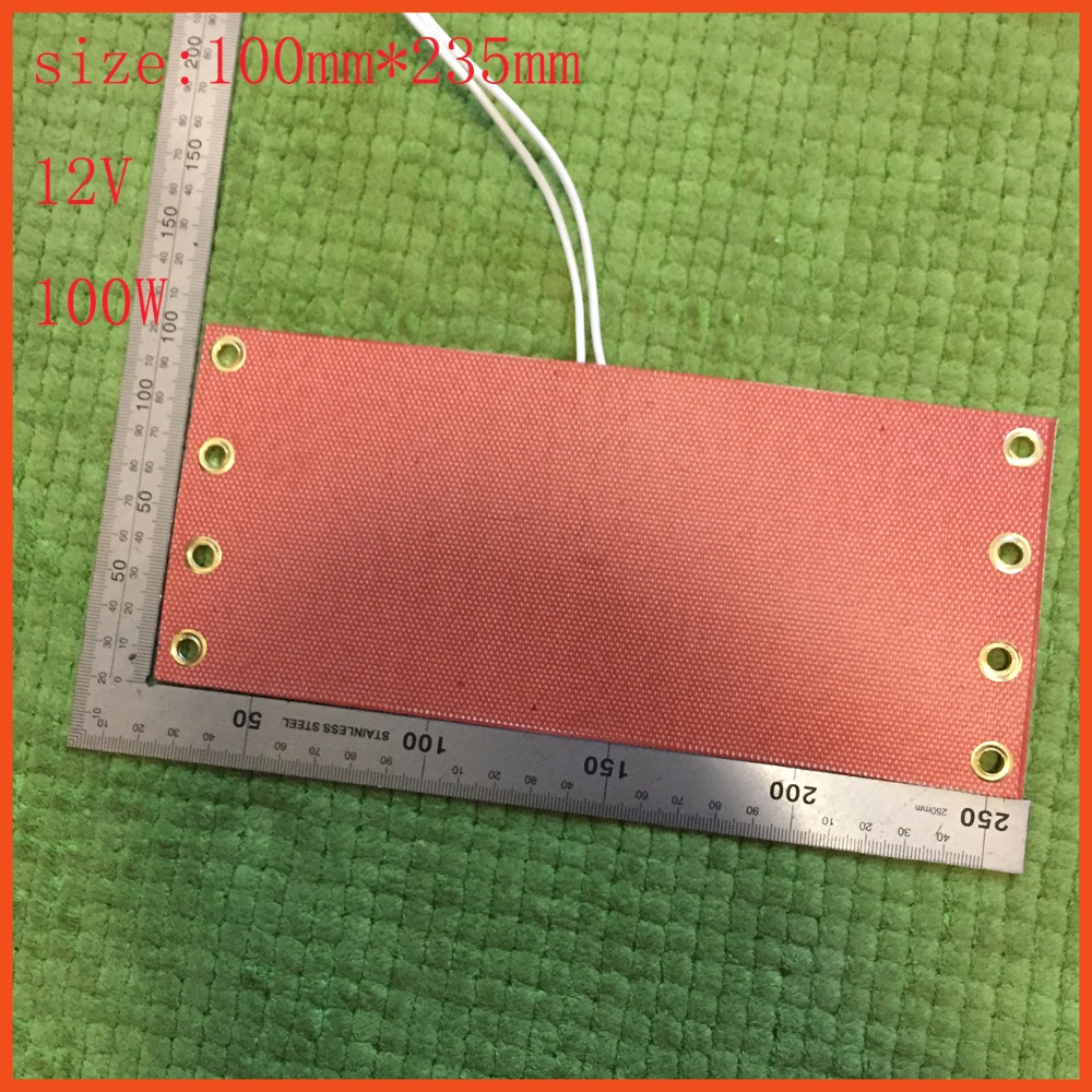 100mm*235mm 12V 100W,Silicone Heater Pad/Mat,Car Fuel Filter Heated Diesel Heater,Flexible Heating Element, with thermostat flexible aluminum mat heater with