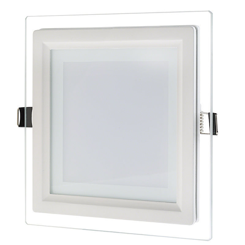 Dimmable LED Panel Light 6W 9W 12W 18W Glass Recessed Downlight LED Indoor Light AC85 265V