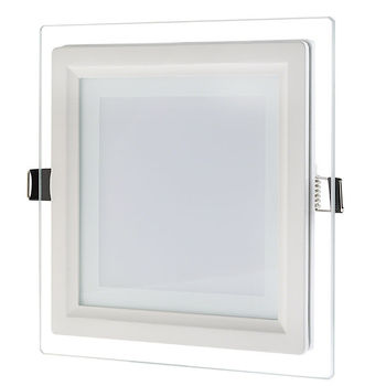 Dimmable LED Panel Light 6W 9W 12W 18W Glass Recessed Downlight LED Indoor Light AC85-265V Dimming Driver Included