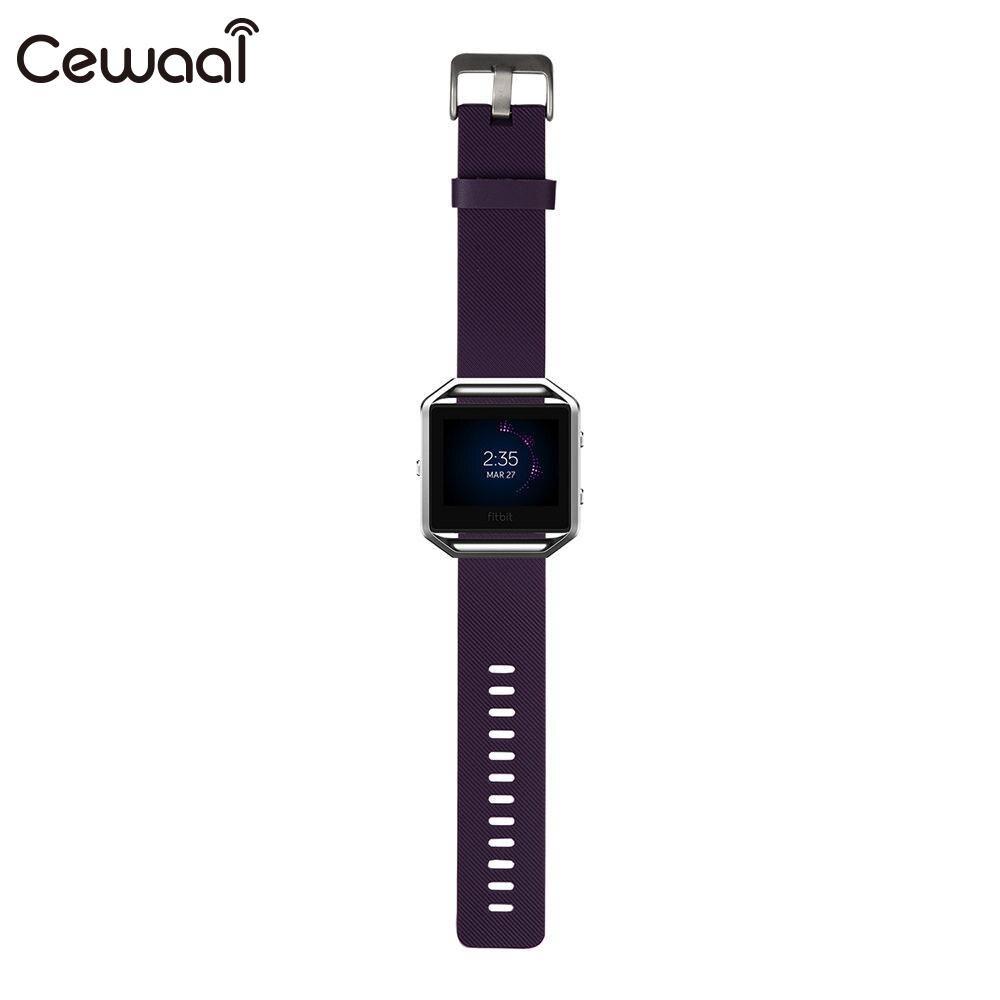 Ремешок для часов маленький ремешок для часов TPE замена Смарт-часы поставки Fitbit Blaze - Цвет: purple