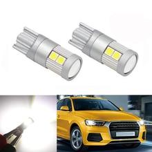 2x T10 W5W светодиодный габаритный фонарь габаритного фонаря лампочки Canbus Error Free для AUDI A2 A3 8L 8 P A4 B5 B6 A6 4B 4F A8 D2 TT C5 C6