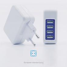 Multi USB Charger Dual Quick Charge 2.0 Ports + 4 USB Ports Fast Turbo Wall Charger for Samsung LG G5 iPhone iPad &More PC