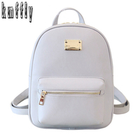 KMFFLY Luxury Brand High Quality PU Big Backpack School Bags For Teenagers Casual Black Travel Women