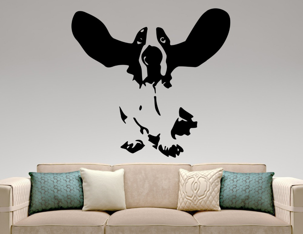 Basset Dog Wall Decal Vinyl Cute Animal Removable Pets