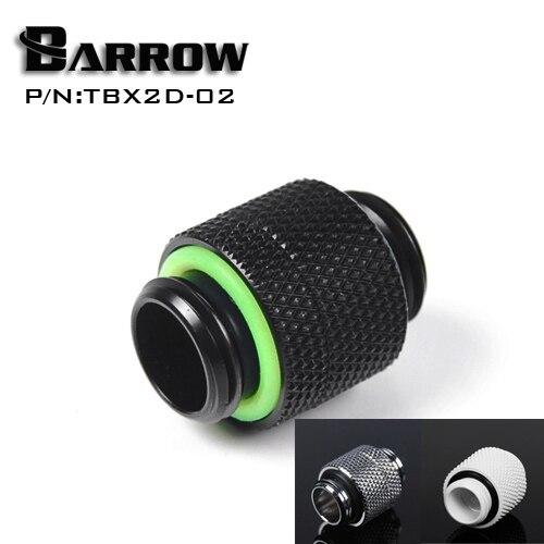 Barrow G1/4 ''obracać się o dwie zewnętrzne połączenie rozgałęźne podwójny męski adapter gwint złącze do chłodzenia wody TBX2D-02