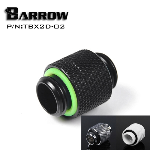 Barrow TBX2D-02 Male To Male Rotary Fitting G1/4'' Black Silver White Gold Connection Adapter