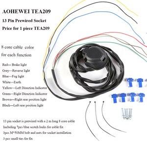 Image 3 - AOHEWEI 1 pc 牽引 7 ピントレーラープラグ 1 pc 7Way プラスチックソケット防水 12 V 用牽引棒キャラバントラック Rv バン