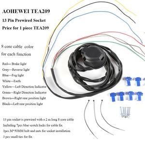 Image 3 - AOHEWEI 1 pc Kéo 7 Pin Trailer Cắm 1 pc 7Way Nhựa Ổ Cắm Chống Thấm Nước 12 V Kết Nối cho Towbar Caravan xe tải RV Van