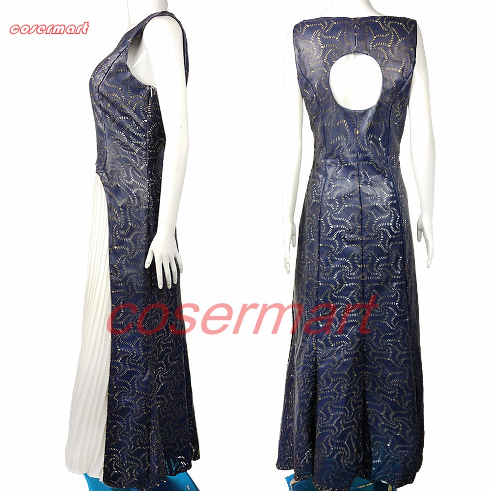 The Game Of Thrones Dress Cosplay Daenerys Targaryen Qarth Dress Leather Costume Halloween Party Prop (3)