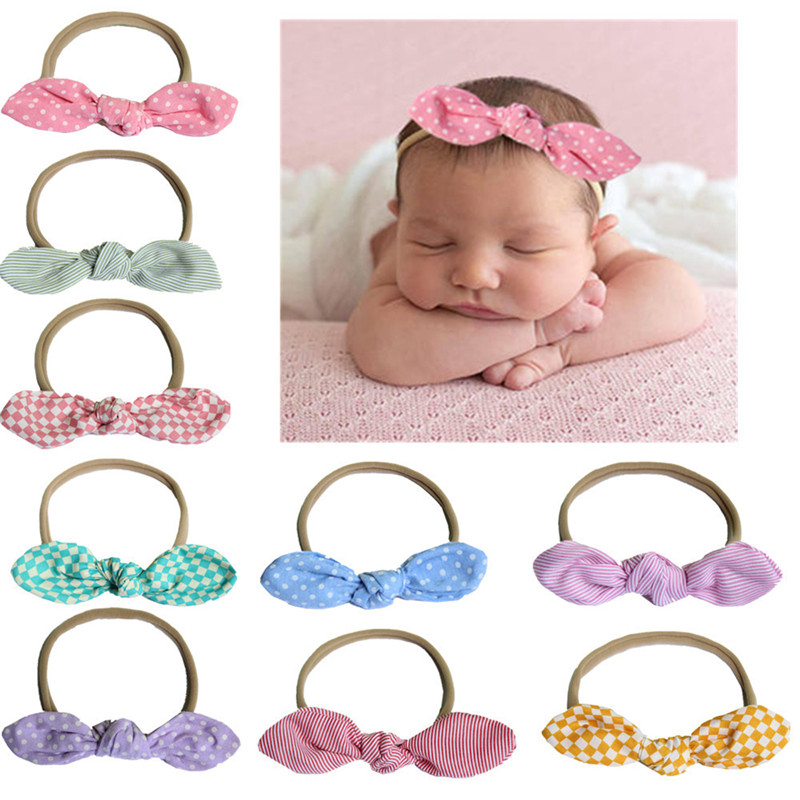 Toddler Headband Head Wear Elastic Kids Girls Baby Bow Knot Hair Band FA