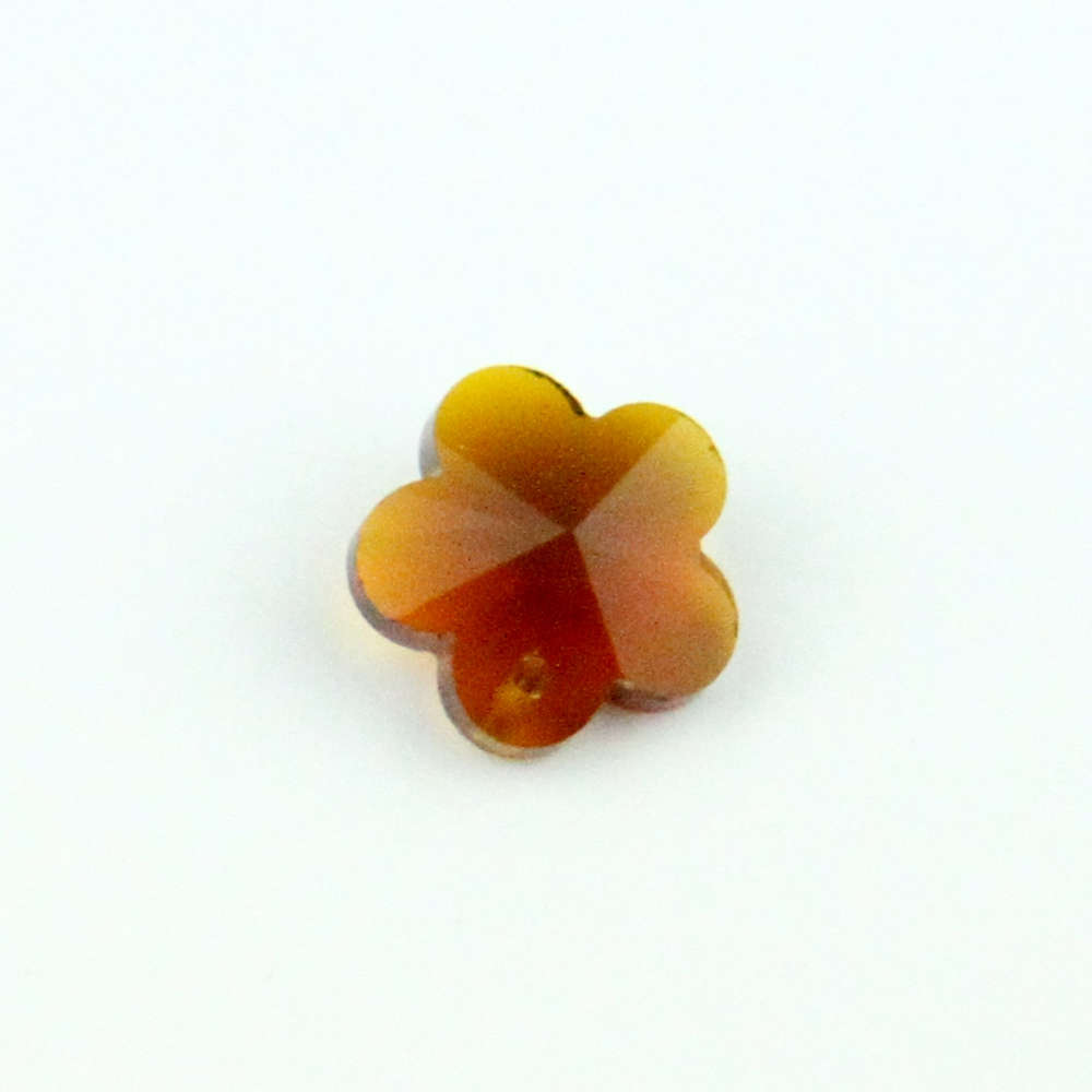 Hot Sale!!14mm Amber K9 Crystal <font><b>Flower</b></font> Beads With One Hole Glass Handmade Beads 100-2000pcs For Wedding Decoration DIY