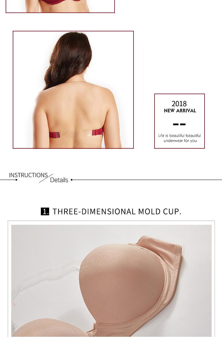 372a1f591b24b Sexy women bra plus size D E cup push up bra brassiere side adjustment  underwear 85 90 95 100 USD 6.65-8.31 piece