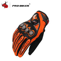 PRO BIKER Motorcycle Riding Gloves Outdoor Sports Motorcycle Racing Driving Gloves Full Finger Black Red Orange