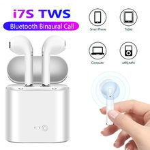 Bluetooth 5.0 Earphone i7s TWS Stereo Earbud Bluetooth Headset with Charging Pod Wireless Headsets Mic for iPhone Samsung Xiaomi(China)