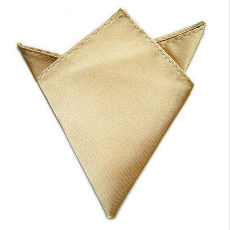 Fashion Cravat Handkerchief Men Cravat Ties Wedding Bridegroom Square Pocket Suit Pocket 22x22cm 6 Colors