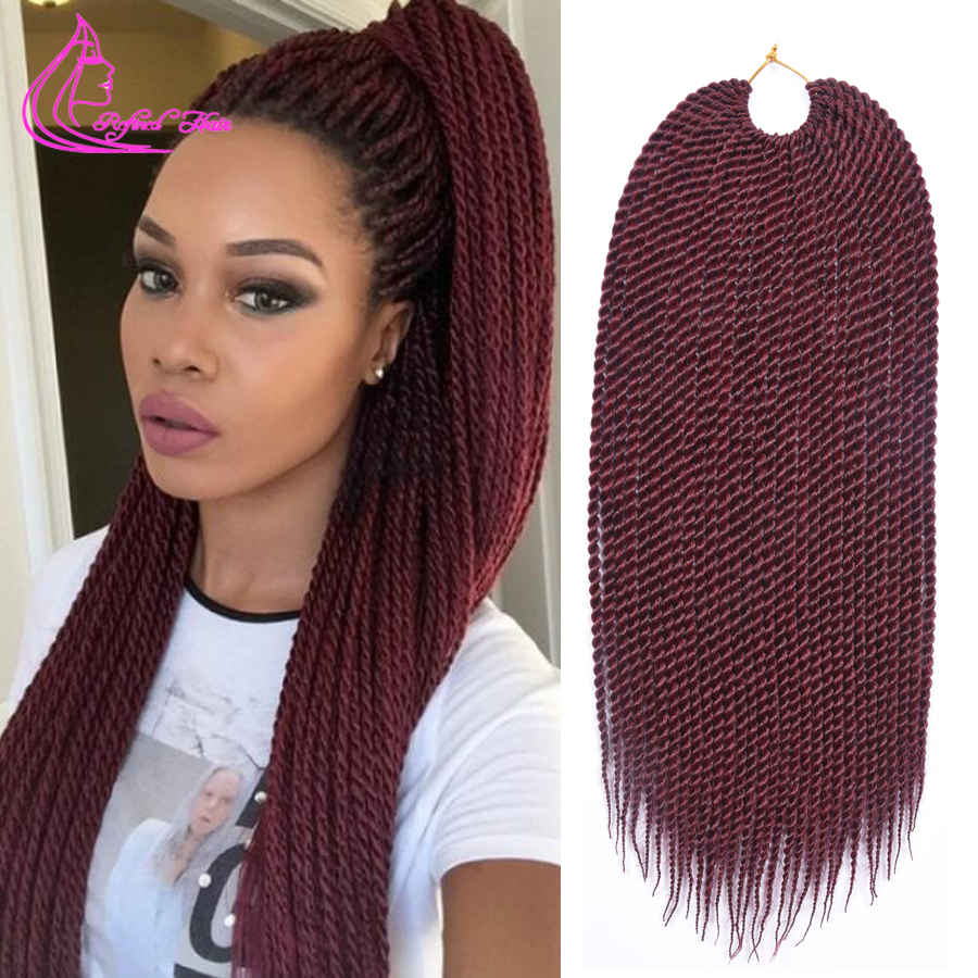 Big promotion ombre jumbo braiding hair 18 30 strands 75g pack xpression ombre hair crochet braids