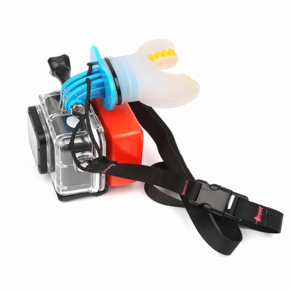 Силиконовые фитинги для камеры сёрфинга Катание на коньках съемка манекен укус ротовое Крепление камеры аксессуары для GoPro Hero 5 4 3 +