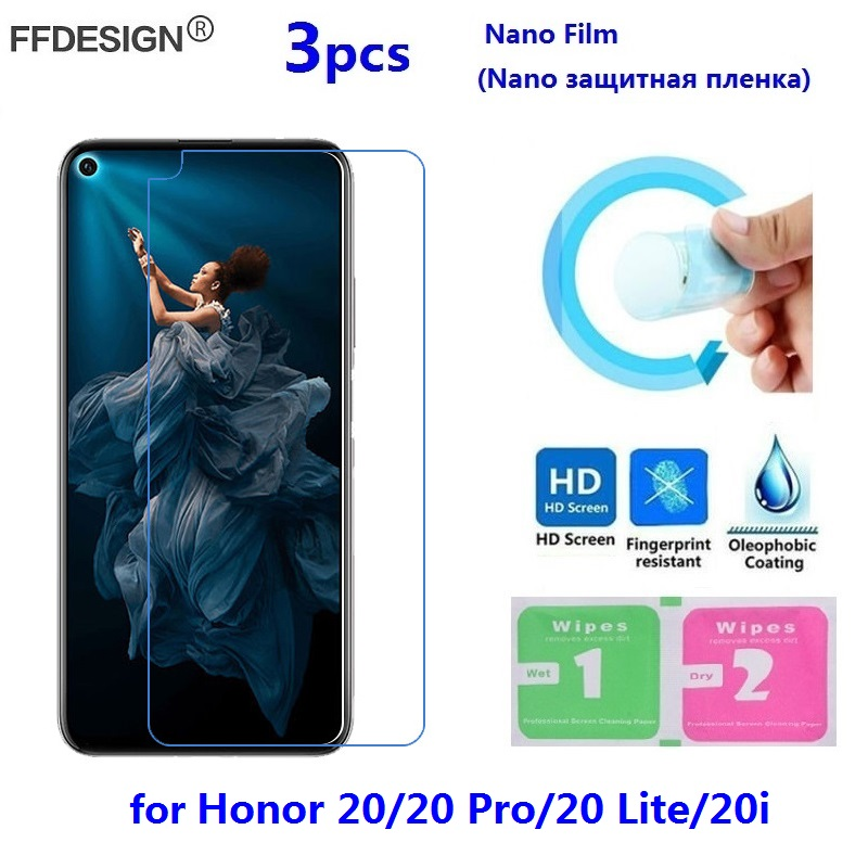 Nano Protective Film For Huawei Honor 20 Lite Pro 20i (Not Glass) LCD Screen Protector Protection Film Foil Guard