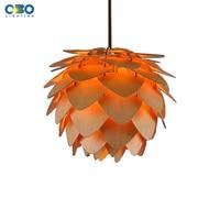 Modern Mango Shape Pendant Lamp Indoor Dropping Lights Foyer Home Room Loft Decoration Lighting E27 110