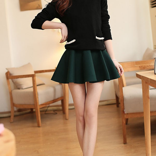 Sexy Women Short Skirt Pleated Mini Skirt Womens Skater High Waist ...