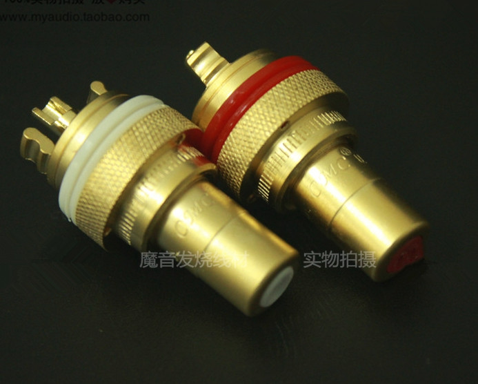 2PCS For CMC 805 Placer Gold Plated/Copper Plating/Guy Platinum Plating Fever RCA Socket Audio Signal Terminal RCA Female Jack