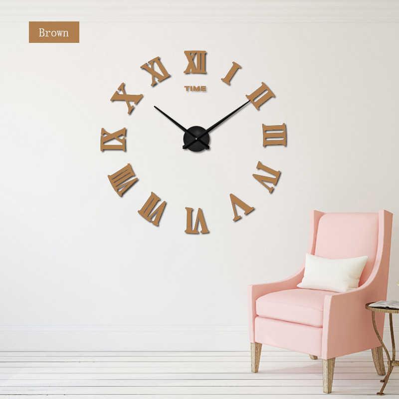 ローマミラー 3D リアルビッグプロモーション家の装飾大 2019 新着クォーツ時計ファッション時計ファッション現代の送料無料