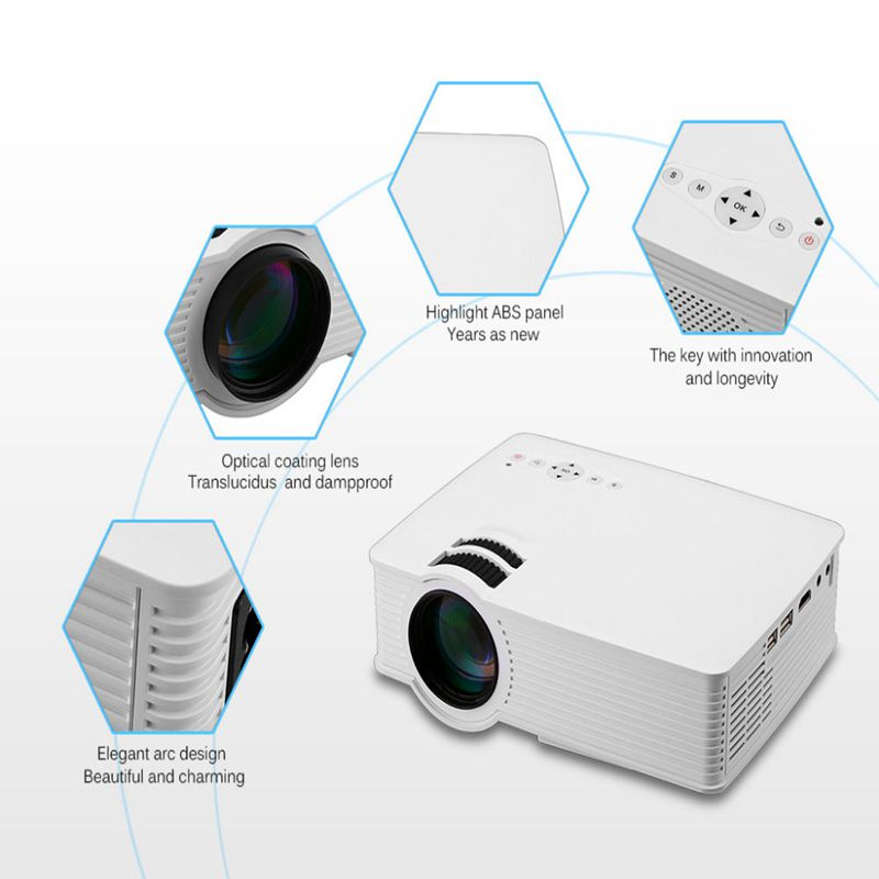 GP9 2000 lumens LED Projetor Full HD 1080P Portable USB Cinema Home Theater Pico LCD Video Mini Projector Beamer GP 9 Proyector