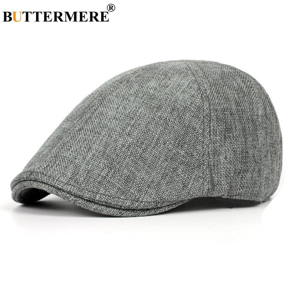 BUTTERMERE Berets-Caps Driver-Hat Spring Linen Adjustable Autumn British Vintage Women