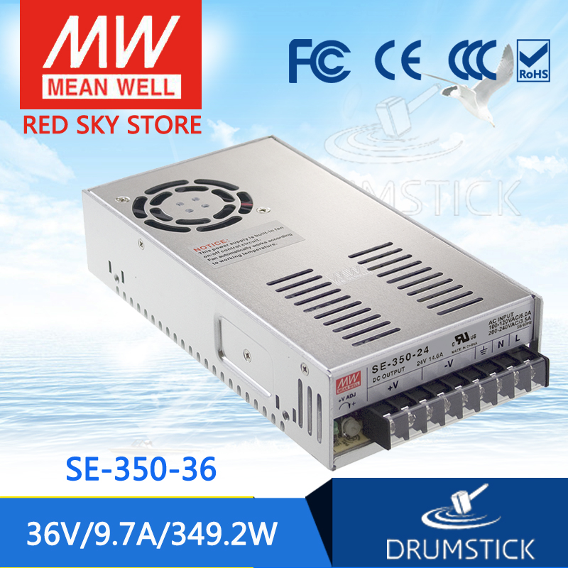 ФОТО [freeshippingB 1Pcs] MEAN WELL original SE-350-36 36V 9.7A meanwell SE-350 349.2W Single Output Switching Power Supply