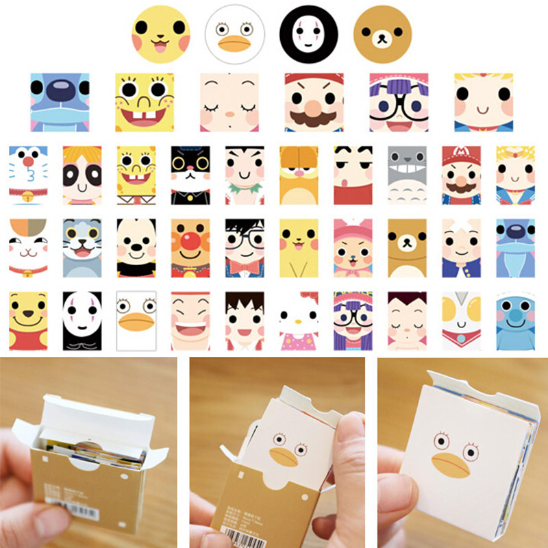 40 Pcs/box Cute Cartoon Mini Paper Sticker Set Decoration DIY Diary Scrapbooking Sealing Sticker Kawaii  Stationery