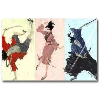 Аниме плакат гобелен шелковый Самурай Чамплу в ассортименте 2