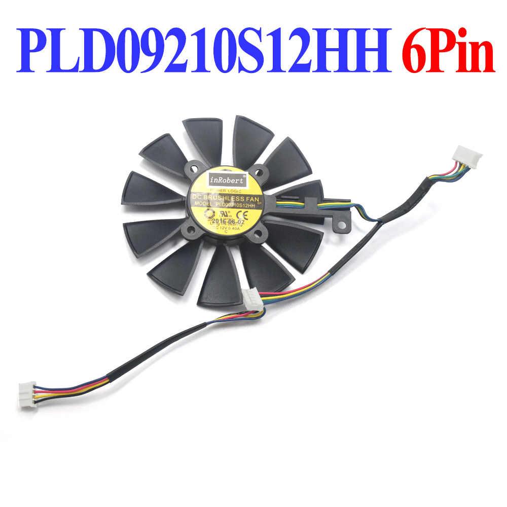 87 ミリメートル PLD09210S12M PLD09210S12HH クーラーファン Asus ストリックス GTX980TI GTX 1080TI 1070TI RX 390X580 VEGA64 VEGA56 グラフィックスカード