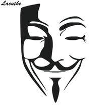 Lacuthe 15*10 см, сексуальная маска для мужчин, наклейка для автомобиля, окна, грузовика, бампера для автомобиля, внедорожника, для двери, ноутбука, Каяка, художественная настенная и т. д. виниловая наклейка