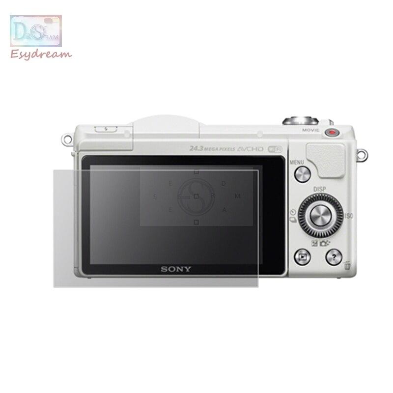 Samoprzylepne szkło hartowane/Film ochrona ekranu lcd etui na sony A5000 A6000 A6300 A6400 ILCE-5000 ILCE-6400 ILCE-6300