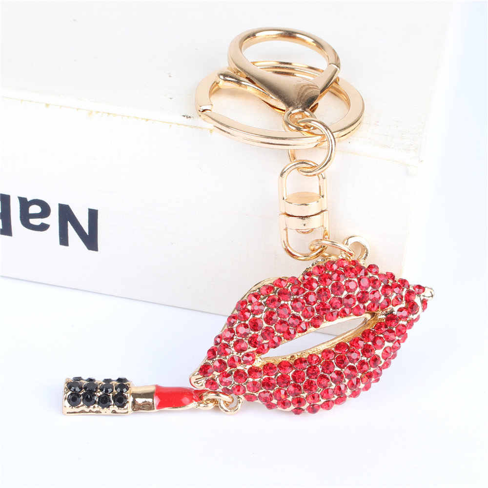 Красный кулон для помады Подвеска со стразами кристалл брелок аксессуары для ключей сумка-кошелек подарок на свадьбу